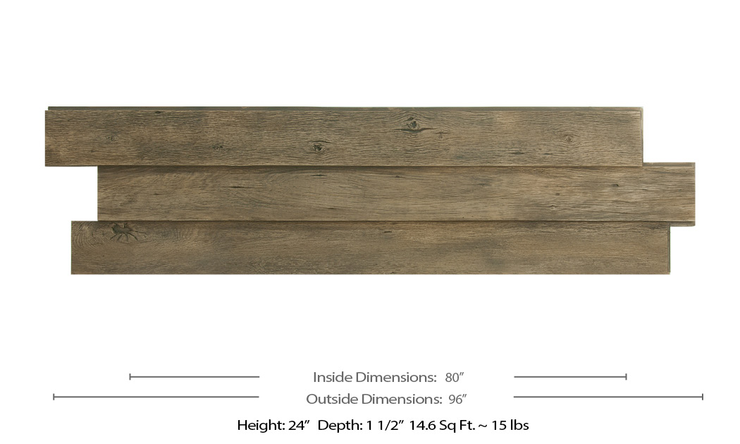 faux weathered wood panel