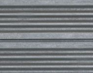Corrugated Metal- Silver