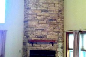 Ledgestone Fireplace-Mountain country