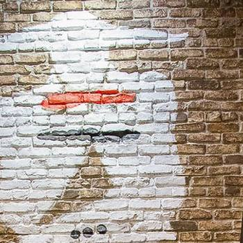stl brick wall -chestnut and painted over by custoemer
