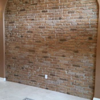 Weathered Orange- Faux Brick